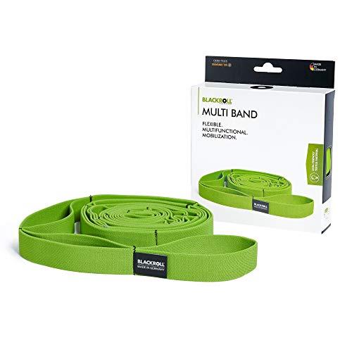 BLACKROLL® Multi Band - Green - Fitnessband. Langes Trainingsband für alle Leistungsstufen. Schlaufen für Variable Trainingsmöglichkeiten - in grün